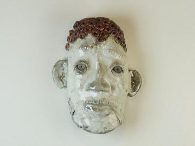 Raku-fired mask